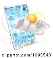 3d Partly Sunny Or Cloudy Cellphone Weather Forecast Application