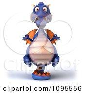 3d Meditating Purple Dragon Balancing On His Tail 1