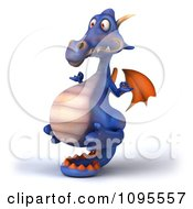 Clipart 3d Meditating Purple Dragon Balancing On His Tail 2 Royalty Free CGI Illustration