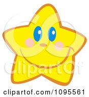 Clipart Happy Yellow Star Smiling Royalty Free Vector Illustration