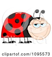 Clipart Happy Ladybug Smiling Royalty Free Vector Illustration