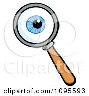 Clipart Magnifying Glass Zooming In On An Eyeball Royalty Free Vector Illustration by Hit Toon