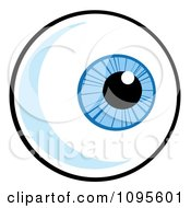 Clipart Blue Eyeball Looking Right Royalty Free Vector Illustration by Hit Toon