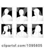 Clipart White Silhouetted Picture Avatars Royalty Free Vector Illustration by KJ Pargeter