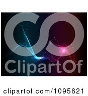 Clipart Flowing Blue And Pink Lights Royalty Free CGI Illustration by KJ Pargeter