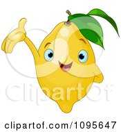 Clipart Happy Presenting Lemon Character Royalty Free Vector Illustration by Pushkin