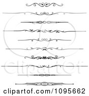 Clipart Black And White Rule Border Design Elements 1 Royalty Free Vector Illustration