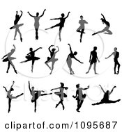 Silhouetted Elegant Male Ballet And Ballerina Dancers