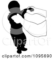 Clipart Hands Holding Up A Silhouetted Baby During His First Steps Royalty Free Vector Illustration by Frisko