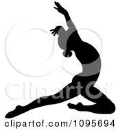 Clipart Silhouetted Elegant Ballerina Dancing 3 Royalty Free Vector Illustration by Frisko #COLLC1095694-0114