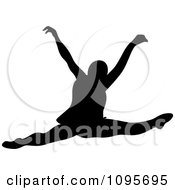 Clipart Silhouetted Elegant Ballerina Dancing 9 Royalty Free Vector Illustration by Frisko