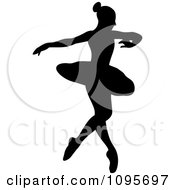 Clipart Silhouetted Elegant Ballerina Dancing 7 Royalty Free Vector Illustration by Frisko