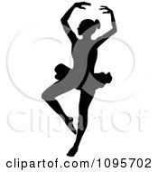 Silhouetted Elegant Ballerina Dancing 5