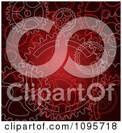 Clipart Red Steampunk Gear Cog Wheel Background Royalty Free Vector Illustration