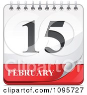 Clipart Turning February 15th Desk Calendar Royalty Free Vector Illustration