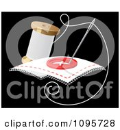 Clipart Needle And Spool Of Thread Sewing A Button Royalty Free Vector Illustration