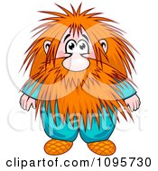 Clipart Red Haired Dwarf With A Long Beard Royalty Free Vector Illustration