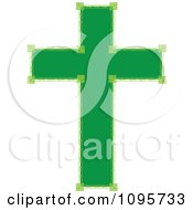 Clipart Ornate Green Cross Royalty Free Vector Illustration