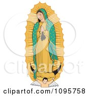 Clipart Angel Under The Virgin Of Guadalupe Royalty Free Vector Illustration