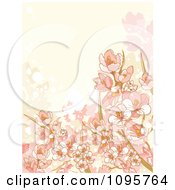Clipart Beige And Pink Floral Background With Grunge Royalty Free Vector Illustration by Pushkin