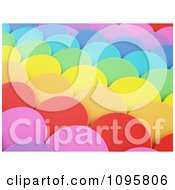 Clipart 3d Colorful Scallops 1 Royalty Free CGI Illustration