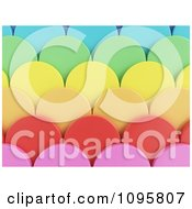 3d Colorful Scallops 2