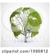 Clipart 3d Green World Map Tree With Leafy Continents Royalty Free CGI Illustration by Mopic