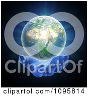 Clipart 3d Gentle Hand Under An African Globe Royalty Free CGI Illustration by Mopic