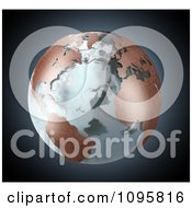 Clipart 3d Earth With Copper Continents And Icy Seas Royalty Free CGI Illustration