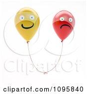 Clipart 3d Happy And Sad Balloon Faces Royalty Free CGI Illustration