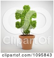 Clipart 3d Puzzle Piece Shaped Topiary Plant In A Pot Royalty Free CGI Illustration by Mopic