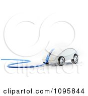 Clipart 3d Computer Mouse With Wheels And A Blue Cable Royalty Free CGI Illustration