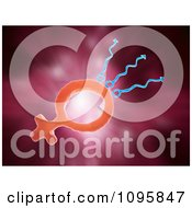 Clipart 3d Sperm And A Female Gender Symbol Egg Over Red Royalty Free CGI Illustration