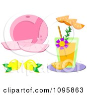 Clipart Grapefruit Lemons Oranges And Juice Royalty Free Vector Illustration by bpearth