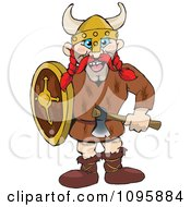 Clipart Male Raider Viking With Red Hair Royalty Free Vector Illustration by Dennis Holmes Designs