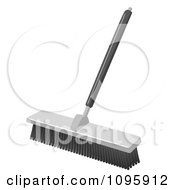 Clipart Industrial Push Broom Royalty Free Vector Illustration by Leo Blanchette