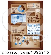 Clipart Blue And Brown Statistics And Informational Graphics Royalty Free Vector Illustration