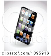 Clipart 3d Black Smartphone With Colorful App Icons On The Display Royalty Free Vector Illustration by TA Images