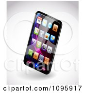 Clipart 3d Smartphone With Colorful App Icons On The Display Royalty Free Vector Illustration