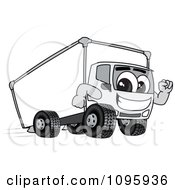 Clipart Delivery Big Rig Truck Mascot Character Running Royalty Free Vector Illustration by Toons4Biz