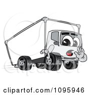 Delivery Big Rig Truck Mascot Character Whispering