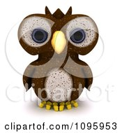 Clipart 3d Brown Owl Royalty Free CGI Illustration by KJ Pargeter