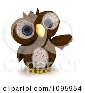 3d Brown Owl Pointing