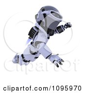 Clipart 3d Robot Flying With A Jet Pack Royalty Free CGI Illustration