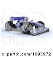 Clipart 3d Robot Driving Formula 1 Race Car Royalty Free CGI Illustration