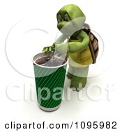 3d Tortoise Drinking A Large Cola Soft Drink