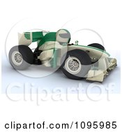 3d Tortoise Driving A Formula 1 Race Car