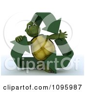 3d Tortoise Inside A Triangle Of Recycle Arrows