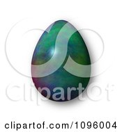 Clipart 3d Colorful Easter Egg And Shadow Royalty Free CGI Illustration