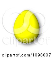 Clipart 3d Yellow Easter Egg And Shadow Royalty Free CGI Illustration